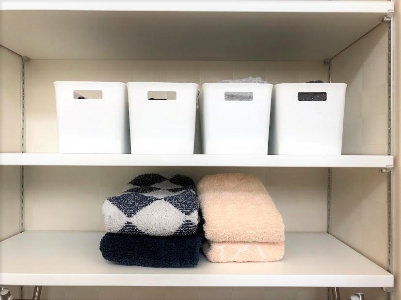 注文住宅のタオル置きの棚