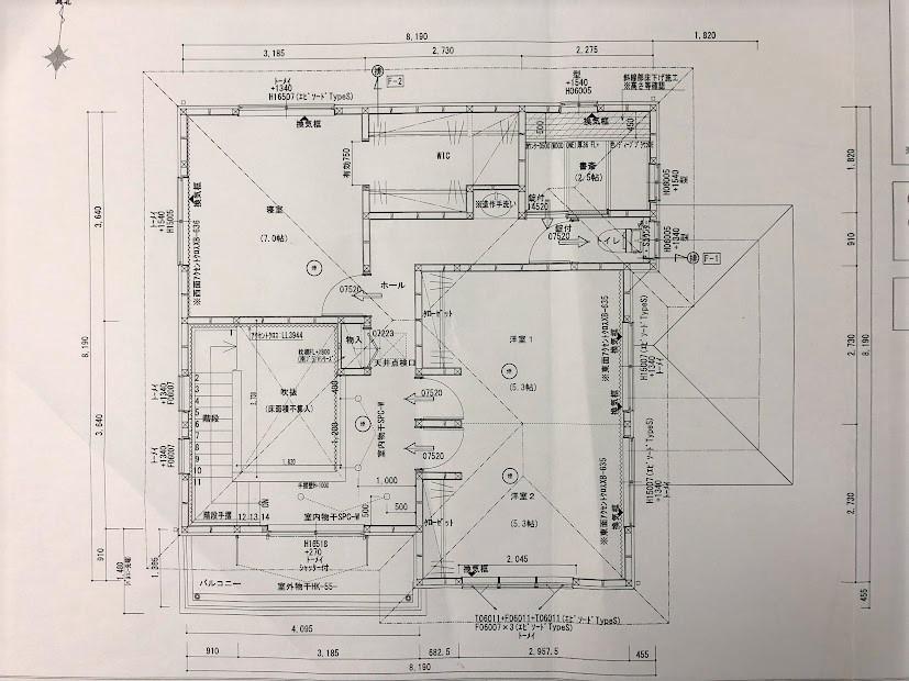 注文住宅の図面2