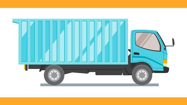注文住宅の持ち込みをトラックで運ぶ