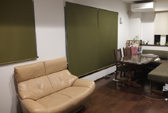 ロールカーテンの部屋